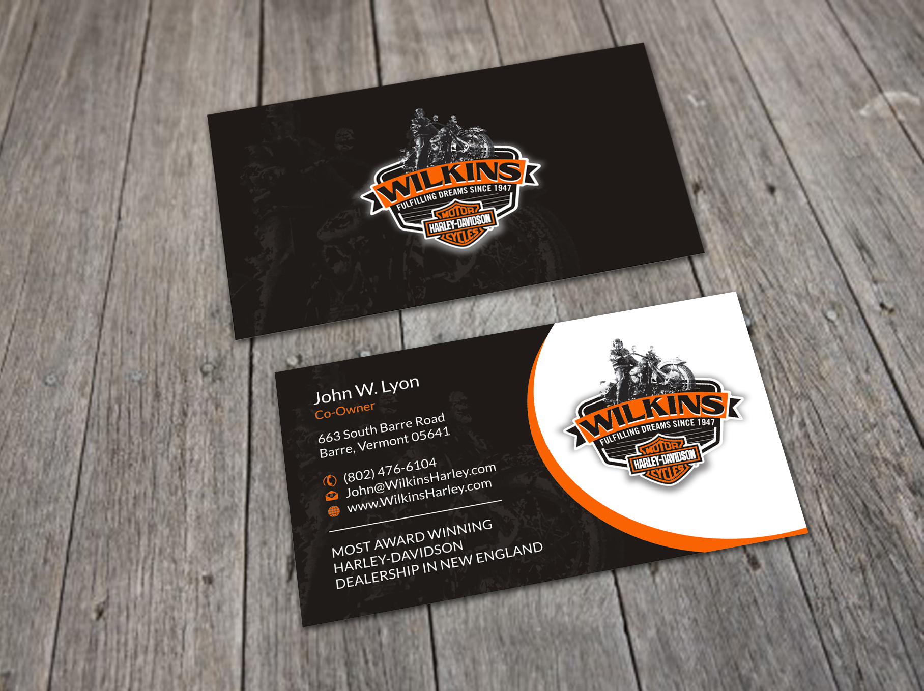 Business Card and Stationery Design Contest for Wilkins Harley ...