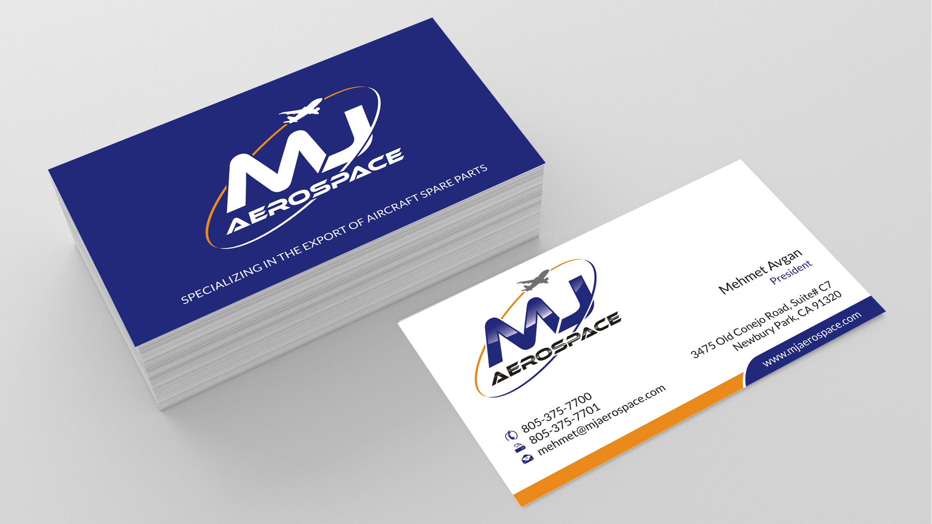 Business card and stationery design contest for mj aerospace hatchwise winning design img reheart Choice Image