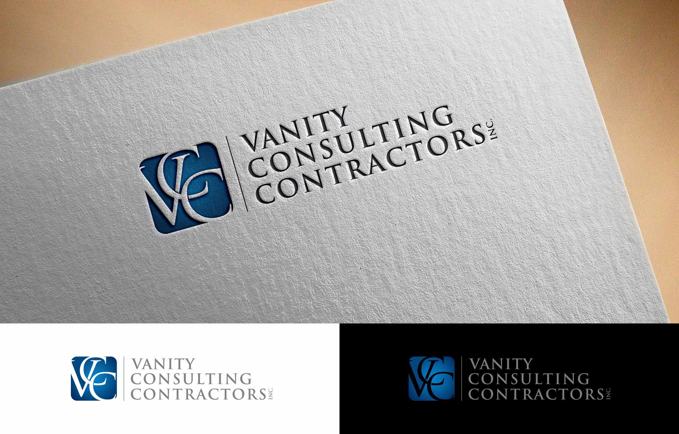 logo design contest for vanity consulting contractors inc vcc