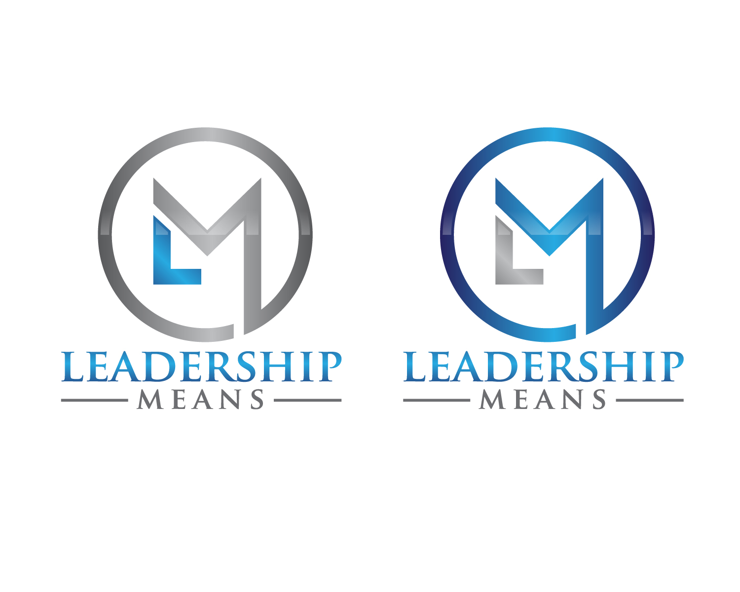logo design contest for the company is called leadership means i